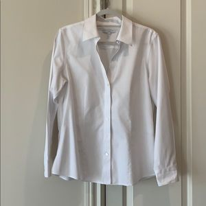 Foxcroft size 12 non-iron fitted white shirt